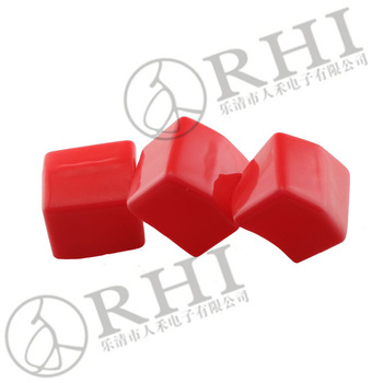 ROHS Red rubber end caps for square pipes, pvc square tube end caps , flexible vinyl sqaure caps