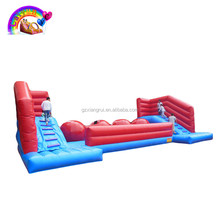 Adult Inflatable challenge Wipeout Obstacle Course Game, Jumping Castle Obstacle Inflatable