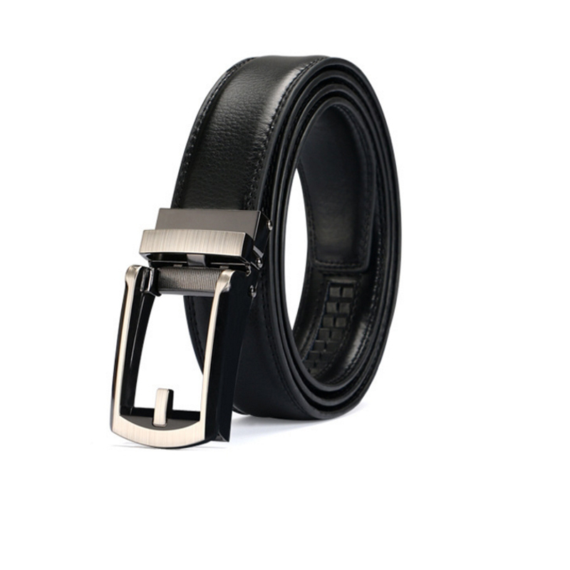 NB-002 Perfect Fit Comfort Buckle Leather Business Style Snep Strap Coating Micro Ratcheting Track System Automatic Belt