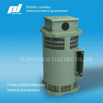 2-Pole 20kw (3000/3600rpm) High-Speed Vertical-Mounting Brushless Generators
