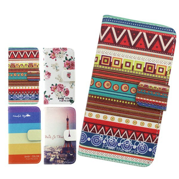 Hot New Products TPU Inside For nokia N900 Pattern Leather Wallet Mobile Phone Case