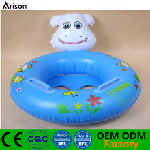 Cartoon animal inflatable baby seat inflatable cartoon baby boat for pool toys