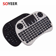 Soyeer Mini I8 Colored Wireless Keyboard And Mouse Combo Tv Remote Control