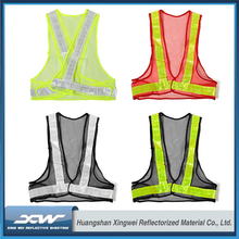 2017 100% breathable reflective fabric waterproof led light mesh safety light Reflective Vest