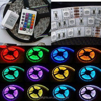 Hot selling 12V/24V SMD 5050 60 leds per meter RGB Flexible LED Strip Light with 3 years warranty