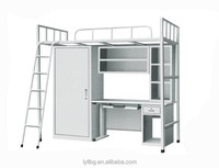 Modern Design School Furniture Metal Single Bunk Bed for Adults