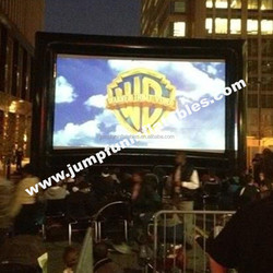 Commercial use inflatable outdoor cinema/Projection Moive Screen OEM