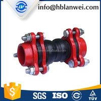 "DN100 4"" Threaded Type Double Sphere with Counter Flange Rubber Joint"