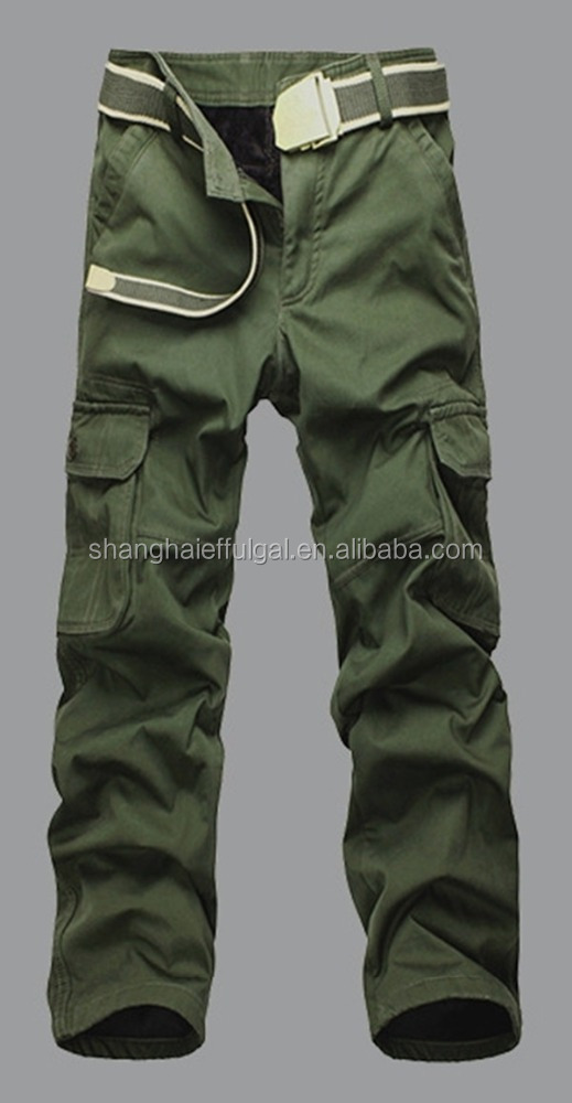 Fast shipment ready made mens high quality heavy cotton fleeced inside Winter work pant