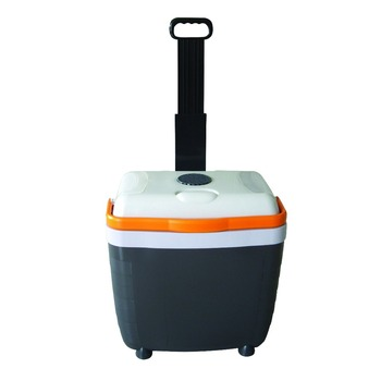 Car refrigerator mini fridge portable electric cooler boxwith wheel 28L 12V