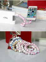 Waterproof usb bracelet usb jewelry bracelet fashion USB 2.0 beads bracelet charger cable for smart phone