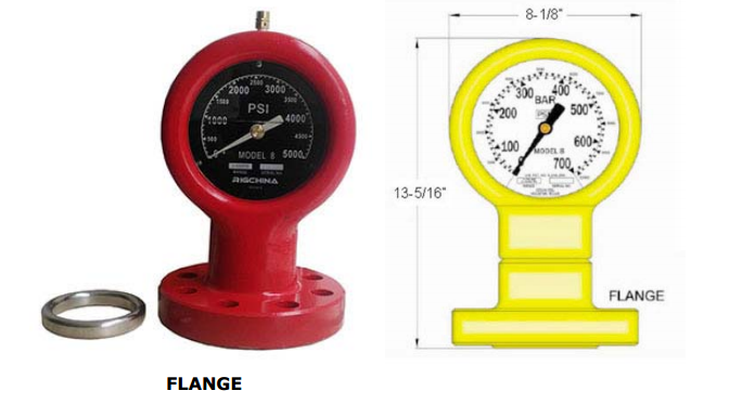 Drilling Mud Pump spare parts Type E Pressure Gauge Model 6 for the capacities up to 20000PSi in oilfield