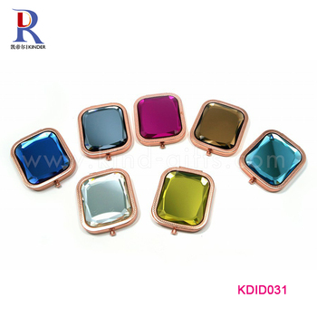 Make your own brand compact mirror hot selling diamond shape cosmetic mirror