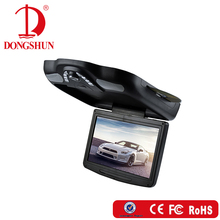 High quality best price 11 inch car roof flip down dvd player with USB and SD slot