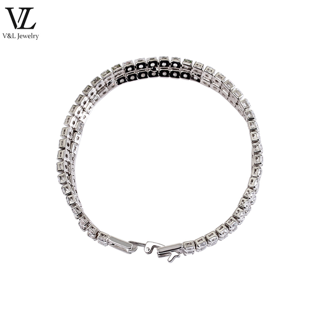 Latest fashion jewelry shinning style infinity charm zircon bracelet