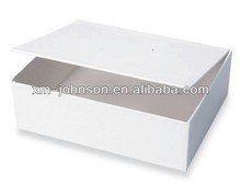 White color hinged cardboard gift box