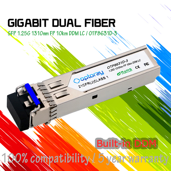 E1MG-LX-OM Brocade 1000BASE-LX SFP optic SMF, LC connector, optical monitoring capable. For distances up to 10 km 1 Gigabit Ethe
