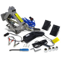 Car Truck Tire Change 2 Ton Electric Scissor Lift Jack+Automatic Wrench Kit