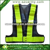 Roadway safety black with yellow high reflective vest