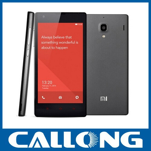 Original xiaomi redmi 1s cellphone 8gb black 3G mobile phone 4.7 Inch MTK6589T Quad Core Android 4.2 smartphone