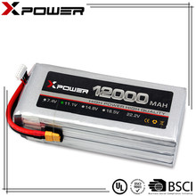 Xpower high discharge rate rechargeable lithium polymer battery 11.1V 12000mAh 20C for large RC helicopter