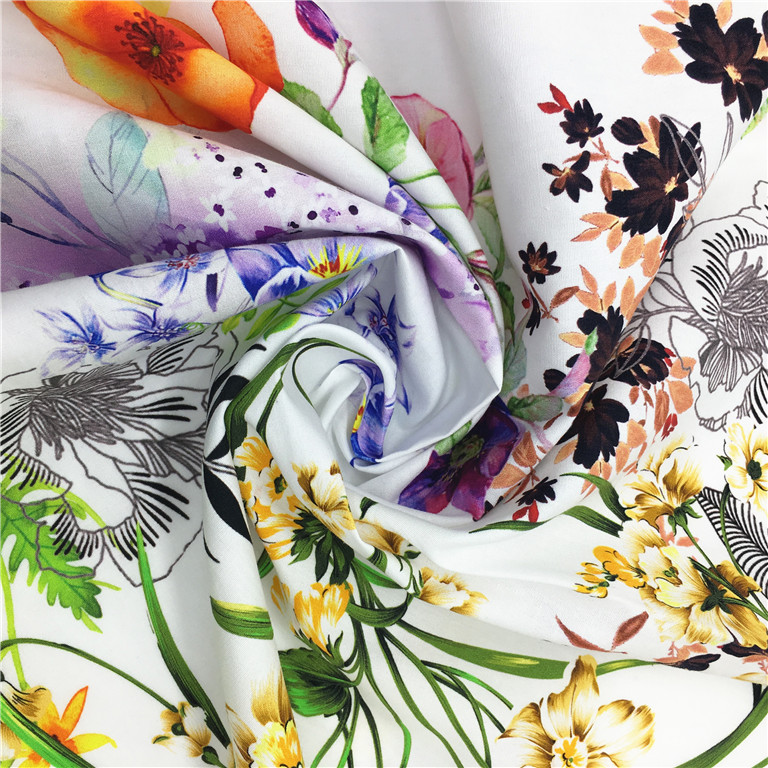 Custom new design high quality digital printing textile and cotton fabric
