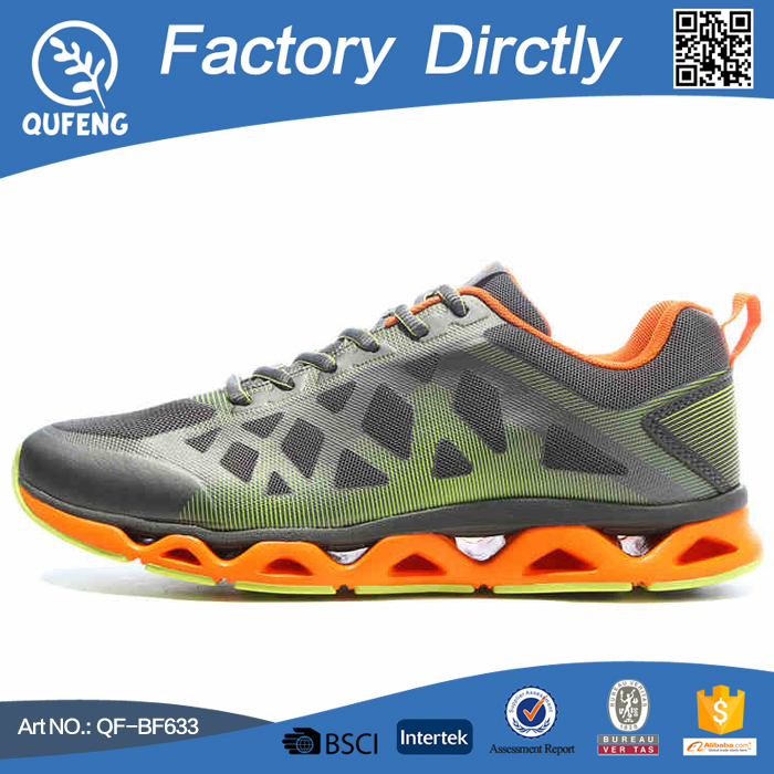 Bright color fashion men combination air sport shoes latest design action sports running shoes