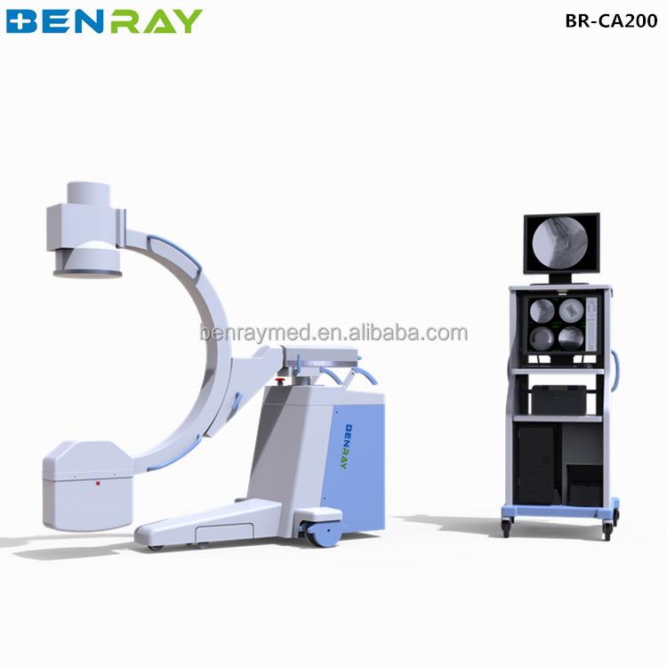 BR-CA200 mobile cheap digital medical x-ray fluoroscopy scanner machine c arm radiology equipment prices