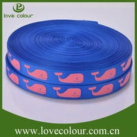 Guangzhou manufacture customized ribbon printed grosgrain ribbon wholesale