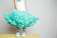 High quality Gorgeous high quality chiffon Fluffy pettiskirt tutu for Girls party skirt for kids wholesale baby girls petticoat