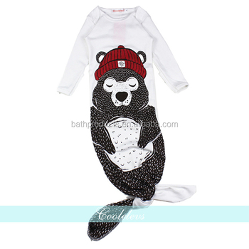 Top Selling 100% Organic Cotton Unisex- Baby Sleep Bag With Animal Pattern