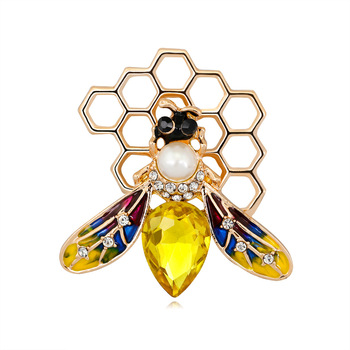 Cute bee hive brooch fashion insect brooch for women
