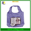 Printed custom made cartoon zippered folding shopping bags