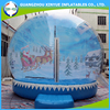 Newest inflatable human size snow globe
