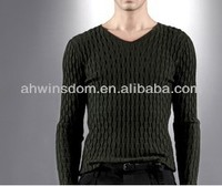 D91824S 2013 AUTUMN AND WINTER MEN'S SWEATER,CABLE-KNIT V-NECK SWEATER