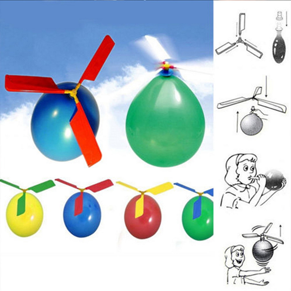 Children Novel Toy Air Plastic Adversting Balloon Helicopter