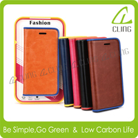 Free sample unique leather phone case for iphone 6 6s plus flip leather wallet stand case