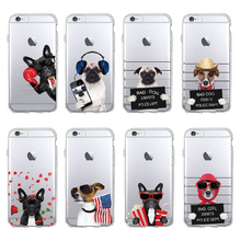 TOMOCOMO Cute Puppy Pug Cool French Bulldog Dog Soft Phone Case Coque Funda For iPhone 7 7Plus 5 5S 6S 6Plus 8 8Plus X SAMSUNG