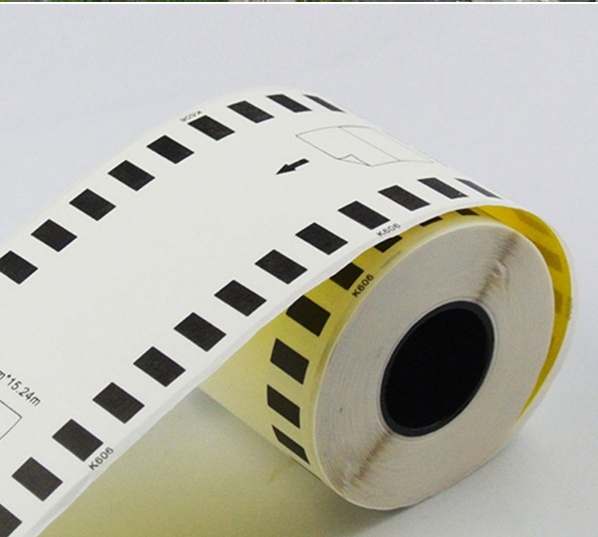 6 Rolls of Compatible Brother DK-22606 Yellow Continuous Film Roll 62mm*15.5m