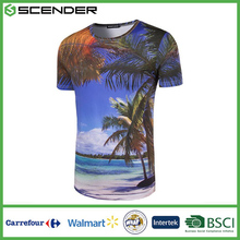 2017 New Fashion 3D Trees Galaxy Space Printed Short Sleeve Casual 3XL Plus Size T-shirts