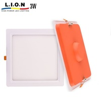 New design 3w indoor ultra slim flat led recessed panel light 300x300