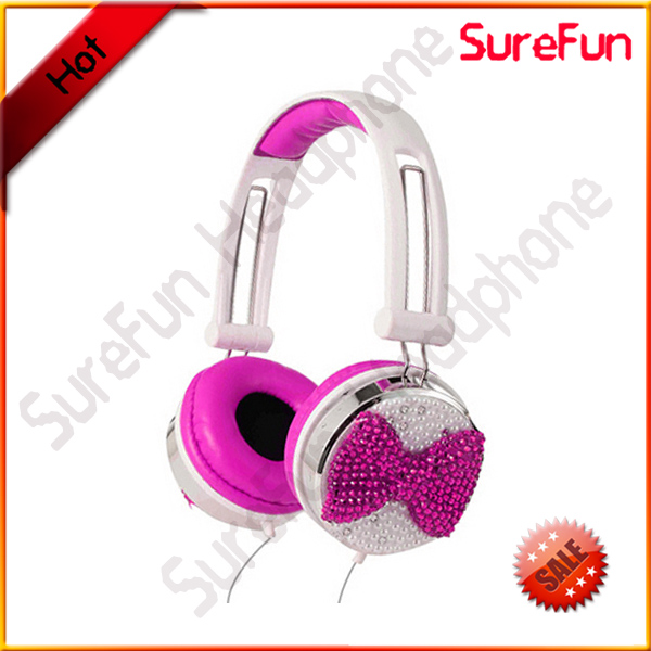 bling headphones pink purple