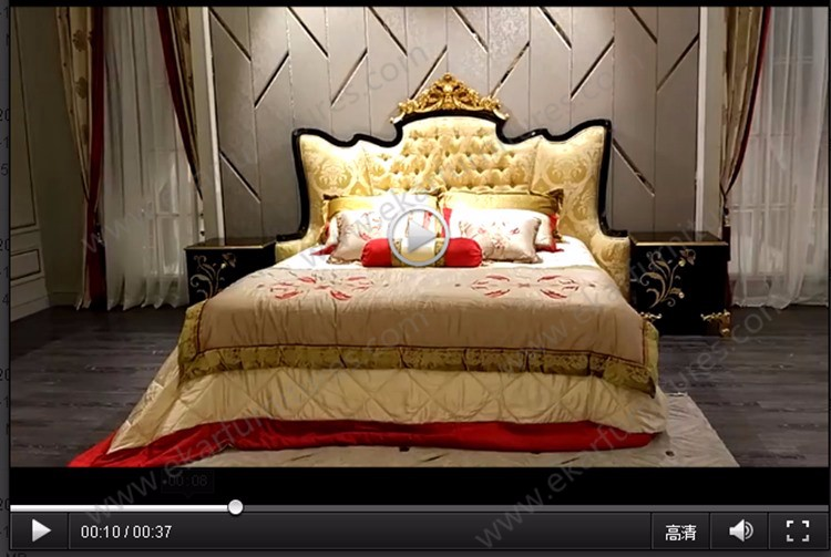 Carved european gold wood luxury bed designs italian bed - Passione italiana camera da letto ...