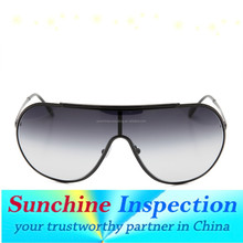 pre shipment inspection/during production check/container loading check for sunglassess