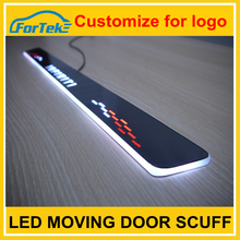 Colorful car accessories led car door sill plate light with logo light led moving door scuff