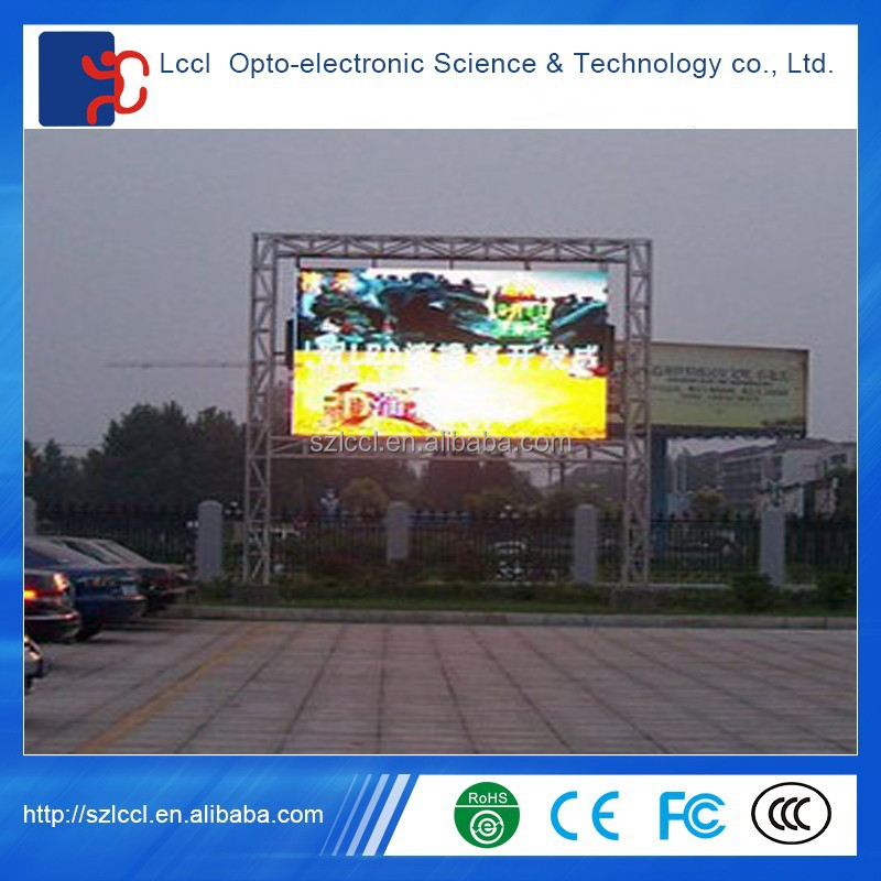 P10 waterproof full color rental led panel / outdoor advertising led display screen prices