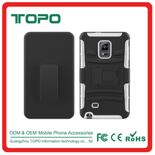 [TOPO] TPU PC Silicone Material combo shockproof football skin phone cover case with holder for Samsung galaxy note edge
