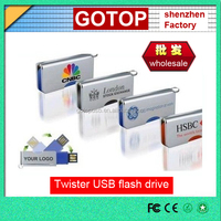promotional twister usb flash drive metal usb flash drive custom usb flash drive
