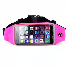 Running Belt Pouch Sport Waist Bag Screen Touching Mobile Phone Holder with Zipper For iPhone 7/7 Plus/6s/6s Plus