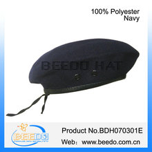 Best quality polyester navy beret hat